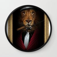 the godfather Wall Clocks featuring the godfather by Natasha79