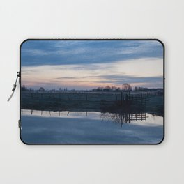 Sunset over a spring river Biebrza in Poland Laptop Sleeve