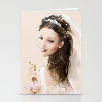 bride Stationery Cards featuring bride by tatiana-teni