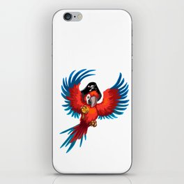 Pirate parrot iPhone Skin