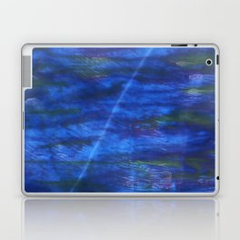 Indigo abstract watercolor background Laptop & iPad Skin