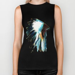 Indian Headdress Native America Illustration Biker Tank