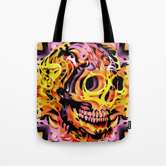 Skull V Tote Bag