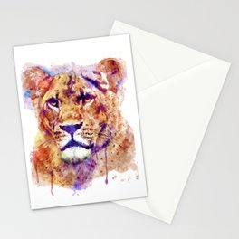 Lioness Head Stationery Cards