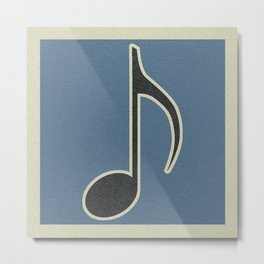 Eighth Note Blue Metal Print