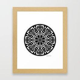Polish Papercut Dancers Black Framed Art Print