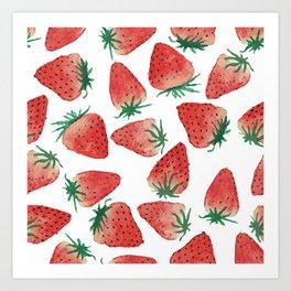 Strawberry Love Art Print