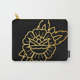 Gold Traditional Rose Carry-All Pouch