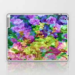 Watercolor Garden Flowers Laptop & iPad Skin