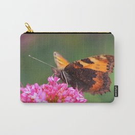 Butterfly on valerian flower Carry-All Pouch