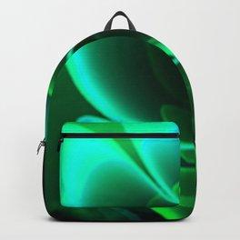 Stylized Half Flower Green Backpack