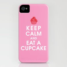 Keep Calm and Eat a Cupcake iPhone (4, 4s) Slim Case