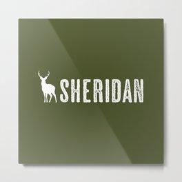 Deer: Sheridan, Wyoming Metal Print