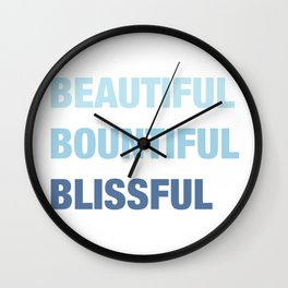 Daily mantra in blue Wall Clock