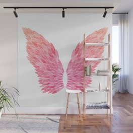Pink Angel Wings Wall Mural