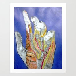 Science & Palm Art Print