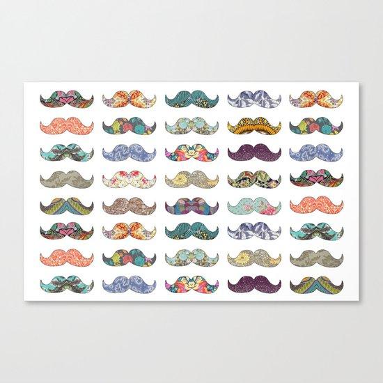 Mustache Mania Canvas Print