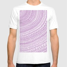 Pink Pulse o2. MEDIUM White Mens Fitted Tee