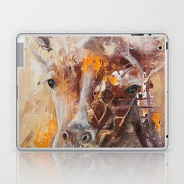 "Giraffe - Animal - ""Presence"" by LiliFlore Laptop & iPad Skin"