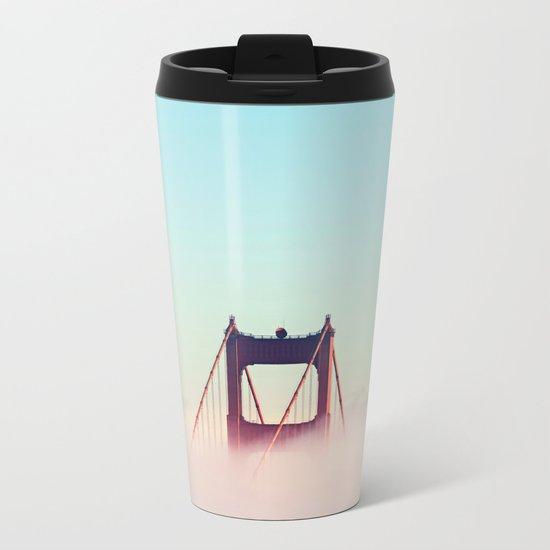 Pastel Sky Bridge New York Metal Travel Mug