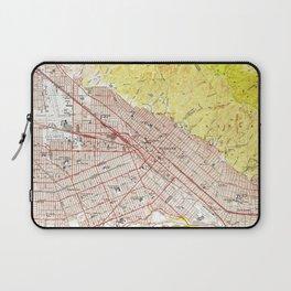 Vintage Map of Burbank California (1953) Laptop Sleeve