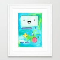 bmo Framed Art Prints featuring BMO by Lauren Reed Art