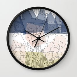 Winter Goldenrod 1 Wall Clock
