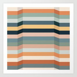 Speed Bumps (Warm Palette) Art Print