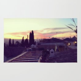 Sunset in Granada, Spain Rug