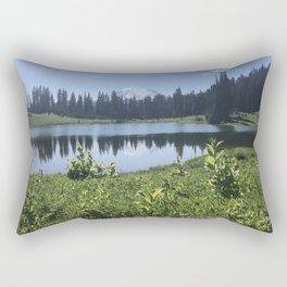 Mount Rainier from Tipsoo Lake Rectangular Pillow