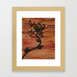 Button Flower Framed Art Print