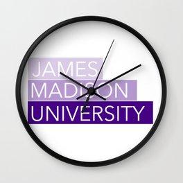 JMU Blocks Wall Clock