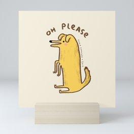 Honest Dog Mini Art Print