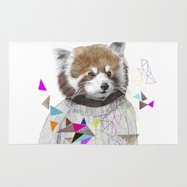 RED PANDA by Jamie Mitchell and Kris Tate Rug