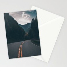 Road #Trees Stationery Cards