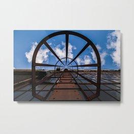 Bullseye Ladder Metal Print