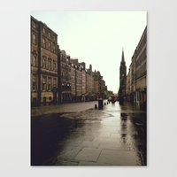 edinburgh Canvas Prints featuring Edinburgh by Taylor Rae