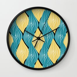 interweaving of leaves Wall Clock