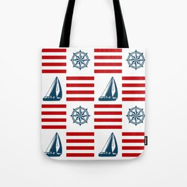 Nautical pattern Tote Bag
