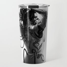 Cyborg girl Travel Mug