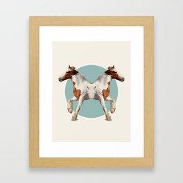 Double Animals: Horses Framed Art Print