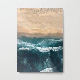 Aerial Coastline Beach Metal Print