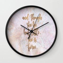 She is Fierce - Marble Wall Clock