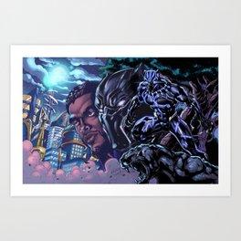 Black Panther: Wakandan Warrior Art Print