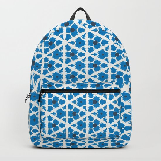 Navy Blue Pattern Backpack