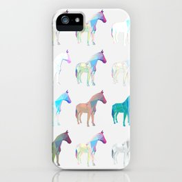 Geometric Horse 2 iPhone Case