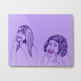 Don't Tell Us To Smile // Broad City Metal Print