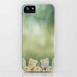 Piggies on a flute  iPhone Case