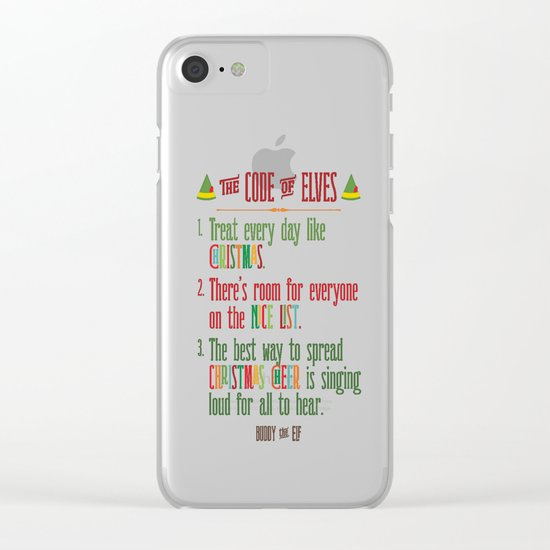 Buddy the Elf! The Code of Elves Clear iPhone Case