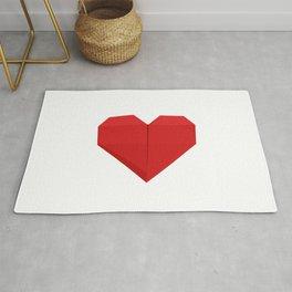 Origami Heart Rug